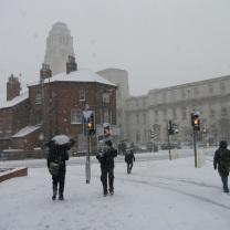 Leeds in the snow
